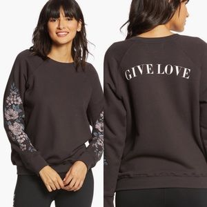 Spiritual Gangster Give Love Crew Sweatshirt Small